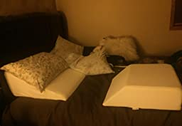Amazon Com Intevision Foam Wedge Bed Pillow 25 Quot X 24 Quot X