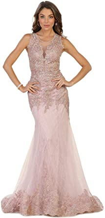 Royal Queen RQ7537 Red Carpet Formal Mermaid Gown (8, Mauve)