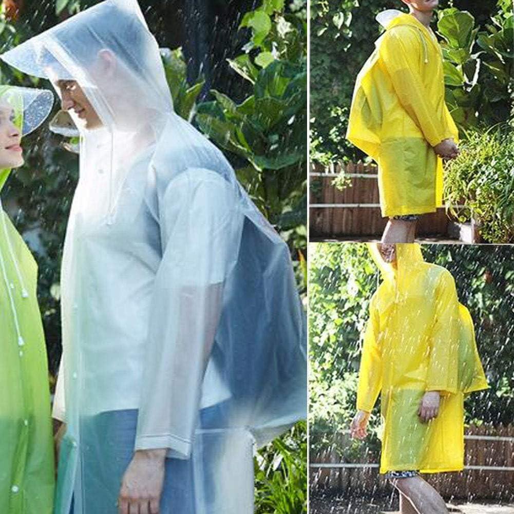 Phego Regenponcho,Regenjacke Wasserdicht Atmungsaktiv Regencape tragbarer Regenmantel mit Lange Regenschutz