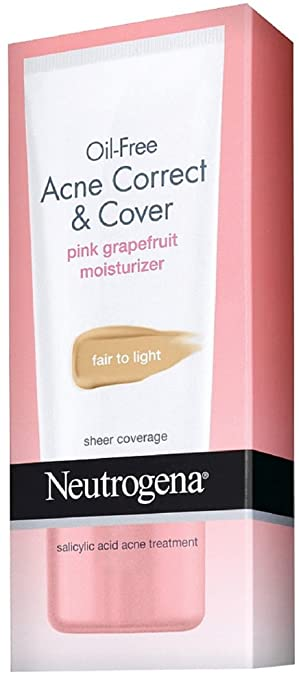 Oil-Free Acne Correct & Cover Pink Grapefruit Moisturizer by Neutrogena #13