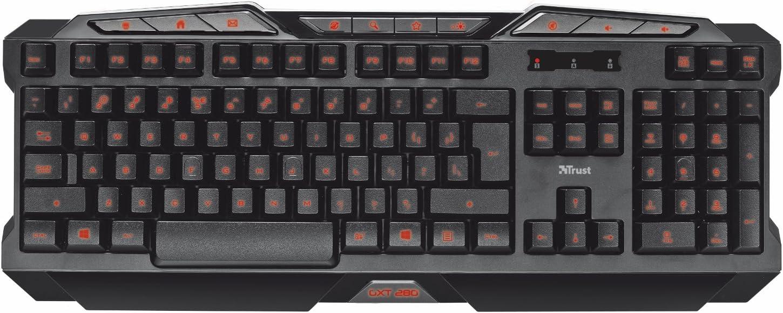 Trust Gaming GXT 280 - Teclado para Gaming (Iluminado con ...