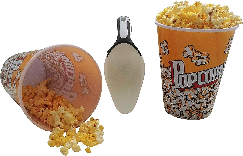 Amazon Com Popcorn Bucket 2 Pack 8 Cups Each 64 Oz With Popcorn Kitchen Scoop 8 Oz Kitchen Dining