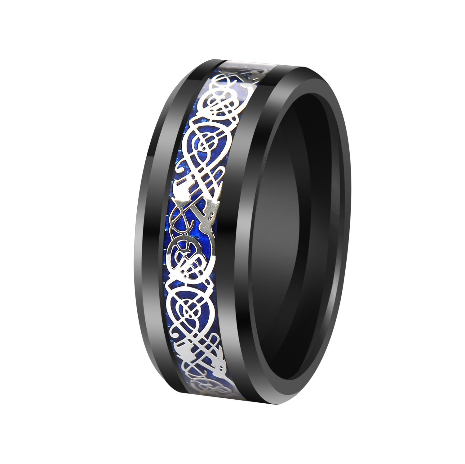 finish by cavalier inlay black men sleek dp titanium carbon comfort rings ring for polished fit band wedding jewelers with fiber lightweight