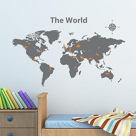 Decowall dwg 604go world map with landmarks 100cm x 60cm peel and decowall dwg 604go world map with landmarks 100cm x 60cm peel and stick graphic wall gumiabroncs Choice Image