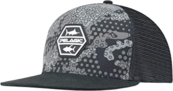 a3f02529d75a0 Pelagic Men s Alpha Snapback Fishing Hat