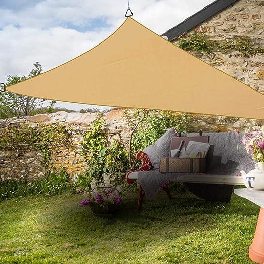 Toldo Marca Greenbay, Parasol para Sombra en su Fiesta en jardín o Patio, Protege del Sol en un 98% Anti UV, triángulo 5m x 5m x 5m: Amazon.es: Jardín
