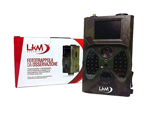 23 opinioni per Telecamera Infrarossi Fototrappola LKM Security® GPRS GSM MMS 12 Megapixel