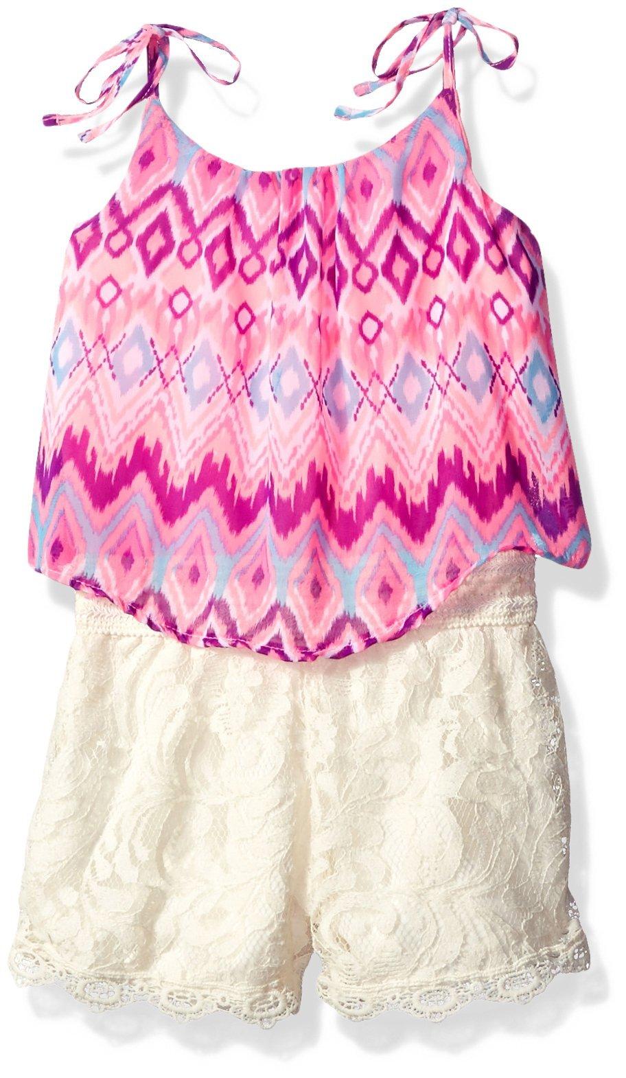 Limited Too Girls' Fashion Short Romper, 1751-Multi, 2T