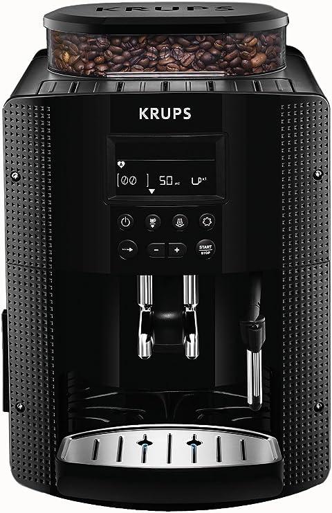 Krups Cafetera EA815050A Espresseria Full Automática con Sistema Thermoblock para un rápido precalentamiento, 3 niveles de intensidad…