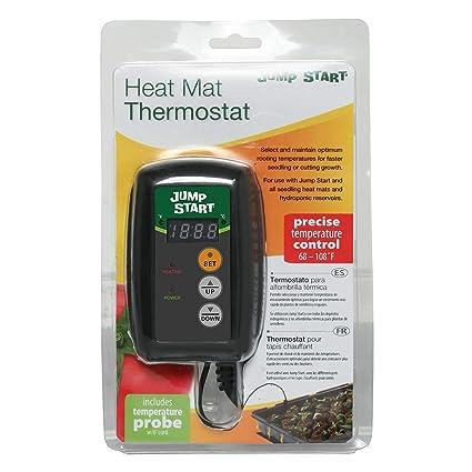 Amazon.com: Hydrofarm Hydroponic Seedling Heat Mat Digital Temperature Controller | MTPRTC (6 Pack): Sports & Outdoors