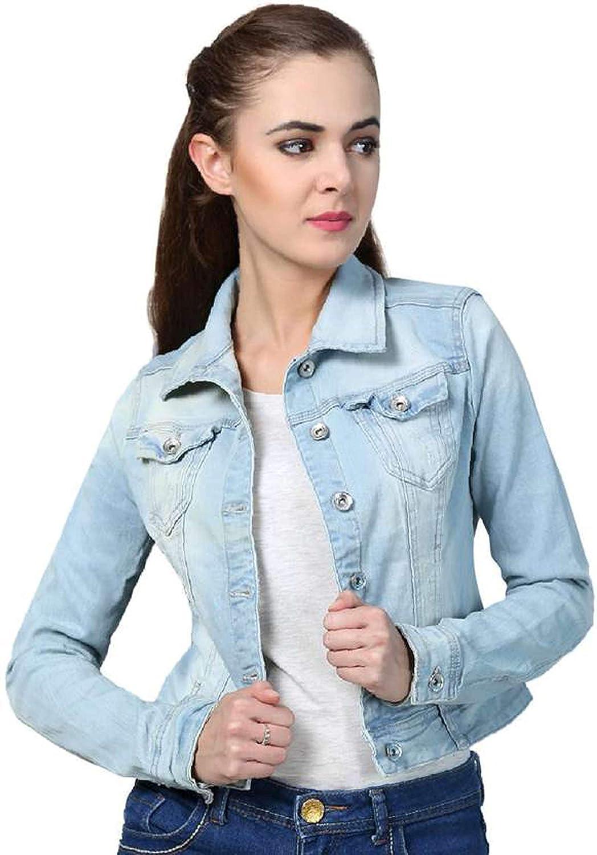 ea754e20d1c9 Rafflesia Tolpis Women Denim Jacket (Light Blue)  Amazon.in  Clothing    Accessories