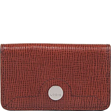 newest 60379 5b4a7 Lodis Business Chic Mini Card Case (Russet) at Amazon Women's ...