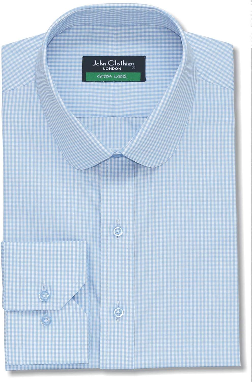 Peaky Blinders Style Penny Club Collar redondo Azul Gingham ...
