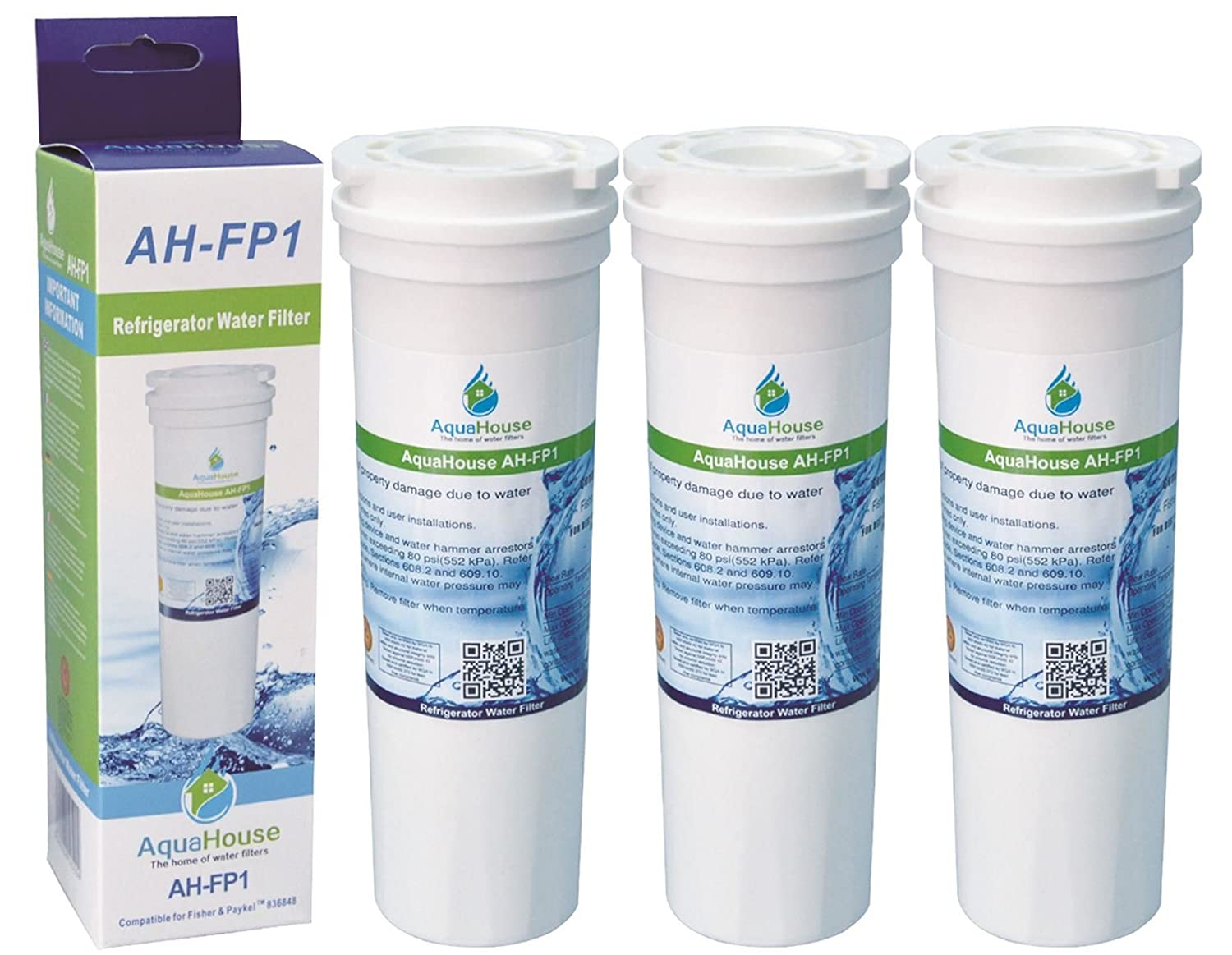 3X 836848 for Fisher /& Paykel Fridge Filter replacement water filter cartridge