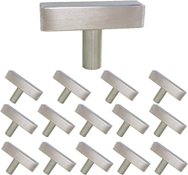 HDJ22SN Single Hole Knob with 2in Overall Length Knobs for Kitchen Cabinets Drawer Knobs Brushed Nickel homdiy Cabinet Knobs Brushed Nickel 5 Pack