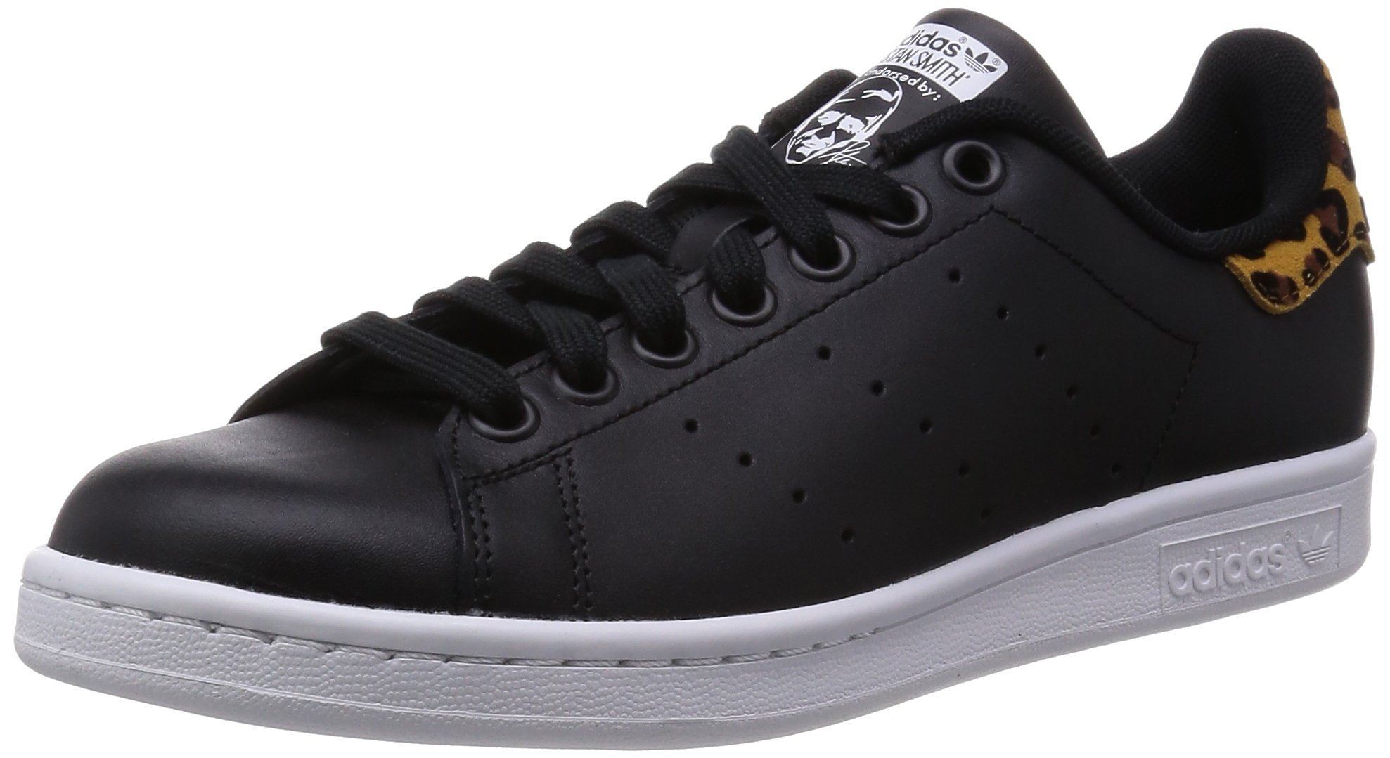 e84bc279215 ... discount code for galleon adidas womens stan smith w black blackwhite  leopard 7 us 1c252 018af ...