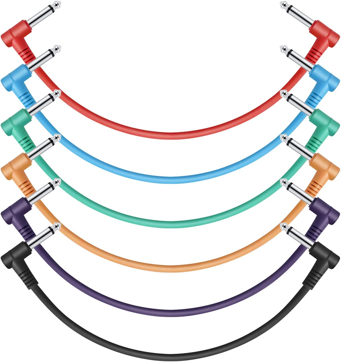 Donner Cables Colores para Guitarra 30 CM TS 1/4