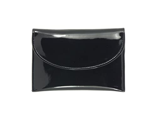 LONI Ladies Faux Patent Leather Wallet Clutch Bag Purse Coin Pouch in Black e15435fd90