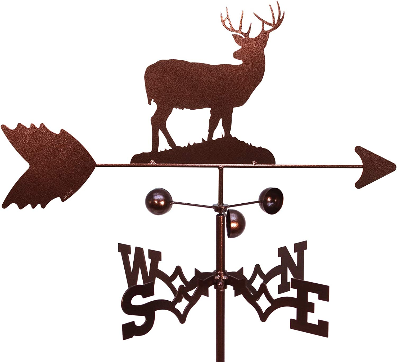 SWEN Products Deer Buck Weathervane (Roof Mount Included)