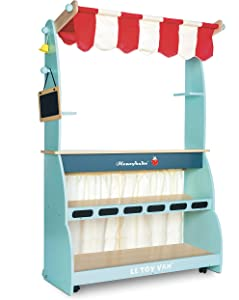 Le Toy Van Honeybake Collection Wooden Shop & Cafe Premium Wooden Toys for Kids Ages 3 Years & Up