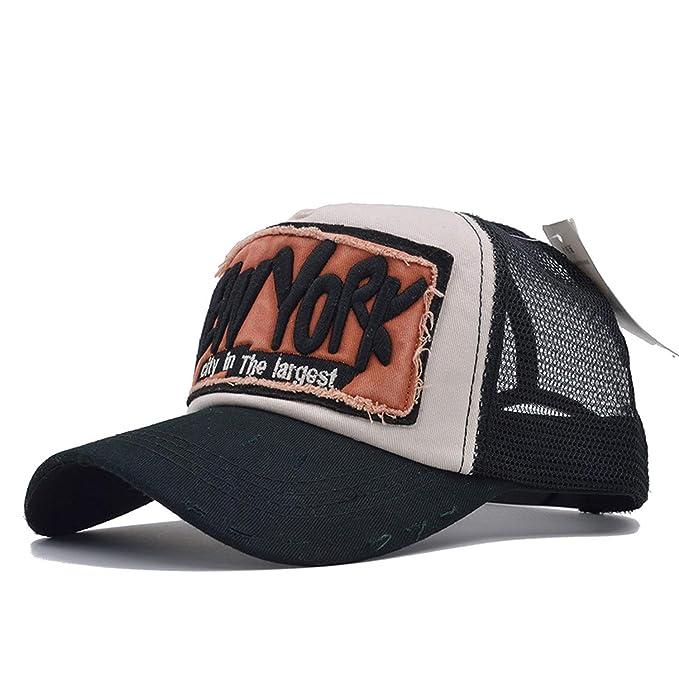 9ee85d9e6d9f43 5 Panel NY Baseball Cap with Mesh Snapback Hat Trucker Cap New York  Baseball Caps Men