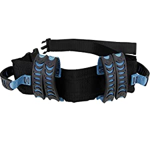 Gait Belt Walking Transfer belt with 6 Plastic Padded Caregiver Handles and Quick Release Buckle for Patient,Elderly Physical Therapy (Blue)