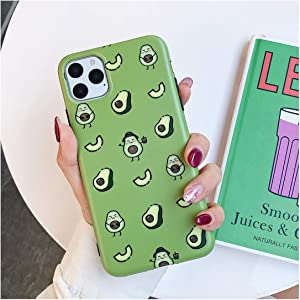 Cartoon Fruit Avocado Phone Case Compatible for iPhone 11 Pro Max XR X XS Max 7 8 6 Plus Case Full Body Soft IMD Phone Cover Bags,Compatible for iPhone 6 6S,b