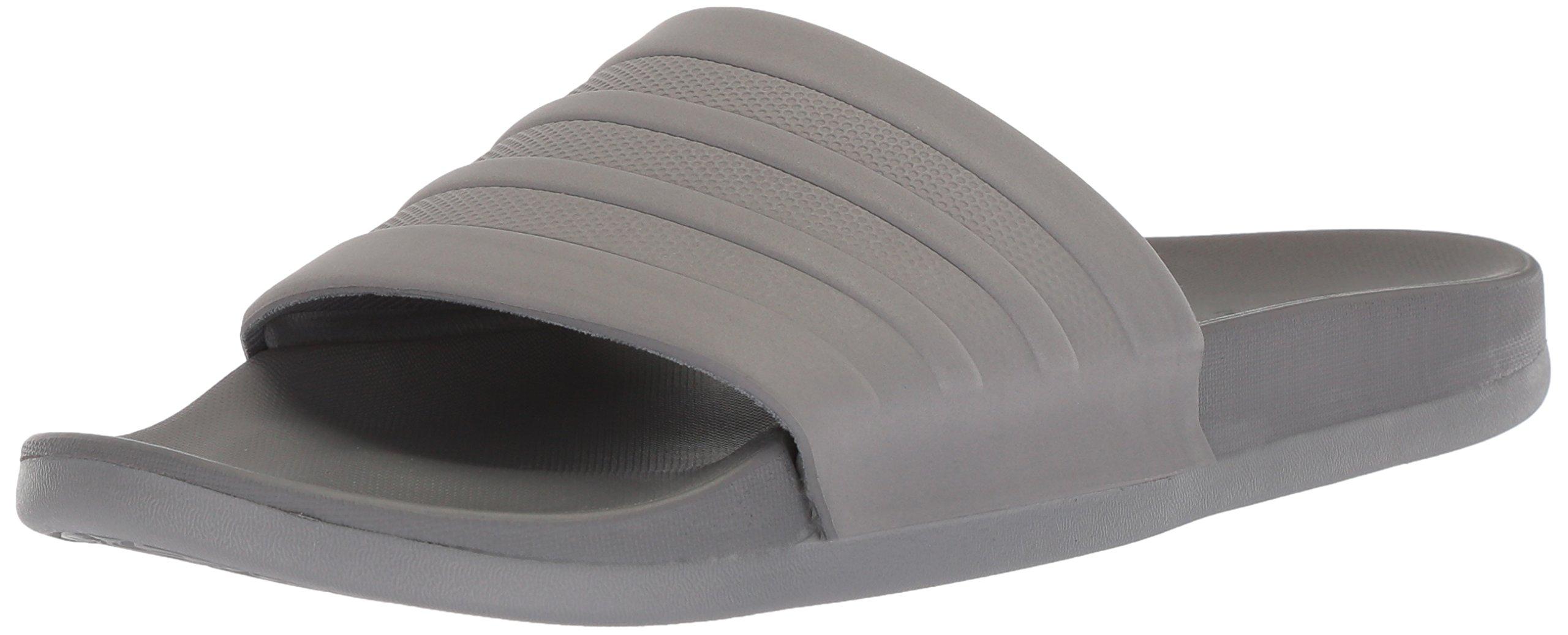 adidas Performance  Men's Adilette Comfort Slide Sandal, Grey/Grey/Grey, 11 M US