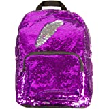 Style.Lab Magic Sequin! Reversible Purple to Silver Fashion Backpack, Multicolor