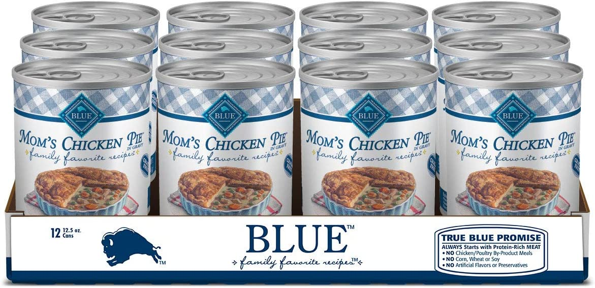 Blue Buffalo Family Favorites Grain Free Natural Adult Wet Dog Food, 12.5 oz can (Pack of 12)