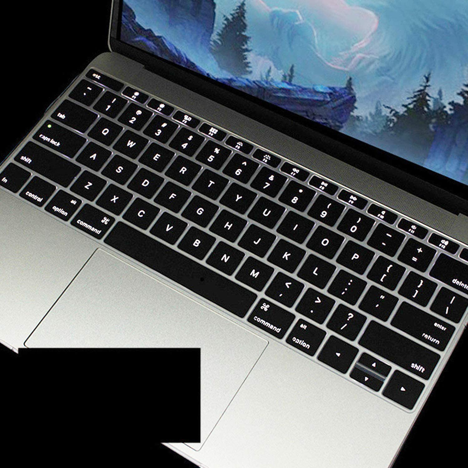 Colorful Silicone Keyboard Cover Protector Skin for MacBook Air 11 Soft Keyboard Stickers-White
