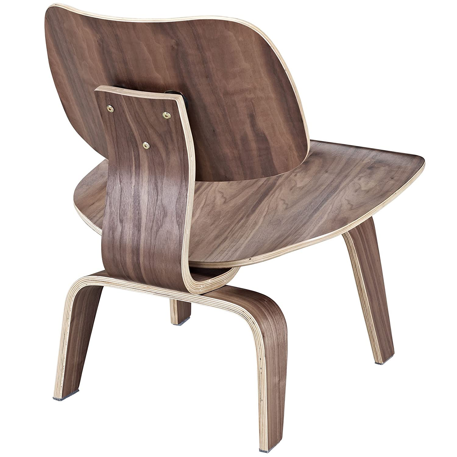Amazon Modway Fathom Plywood Lounge Chair in Walnut Kitchen