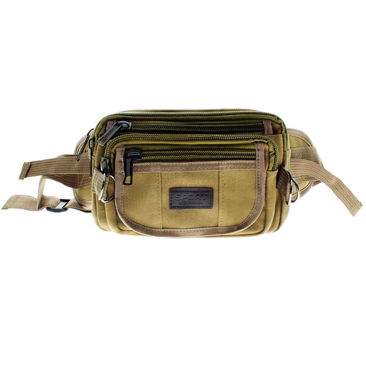 Canvas Waist Bag Waist Tactical Mens Bum Bag for Outdoors Travel Belt Bag 9216 Money Belt Bags Fanny Pack Bag for Men and Women