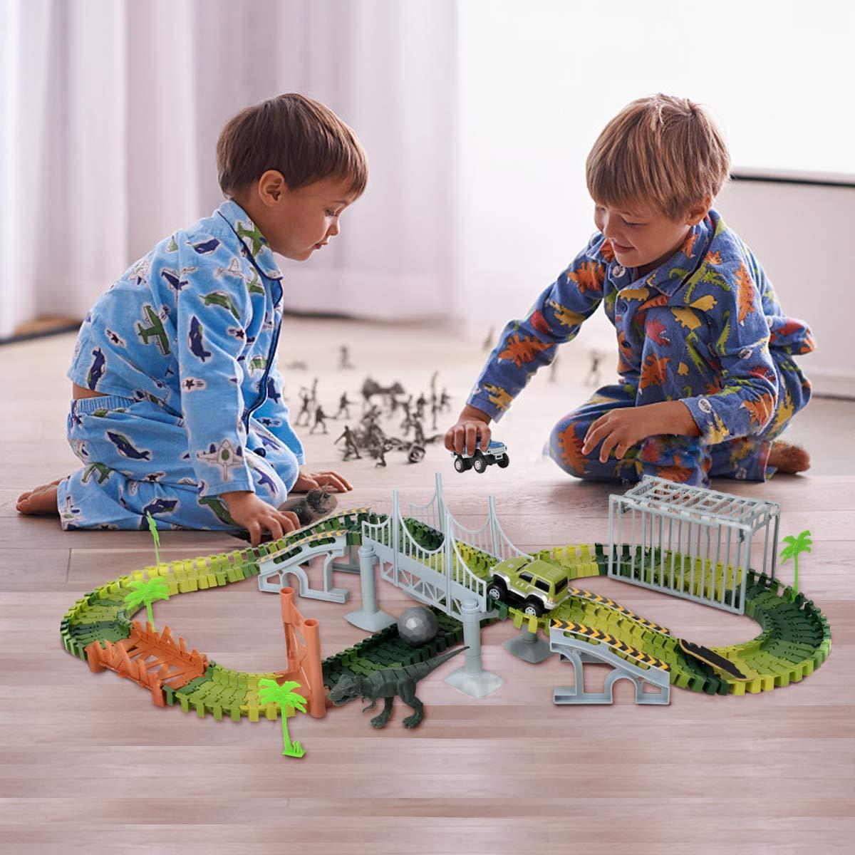 Jurassic Traces De Kidshobby Dinosaures Circuit Jouet Park 76yYbgvf