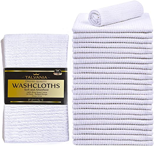 80 new white 12x12 100/% cotton terry shop towels soft absorbent cleaning towels