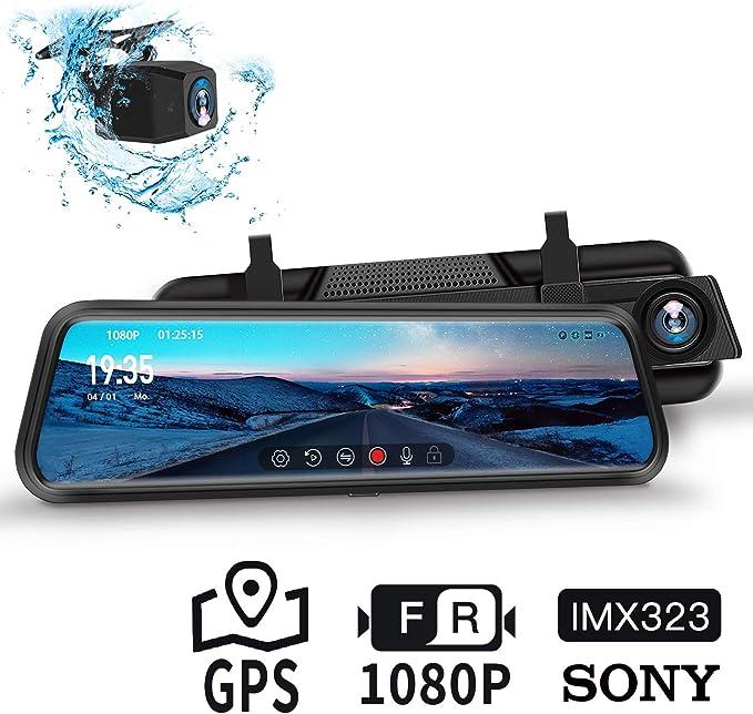 Dudubell Autokamera 10 Ips Touchscreen Rückspiegelkamera Elektronik