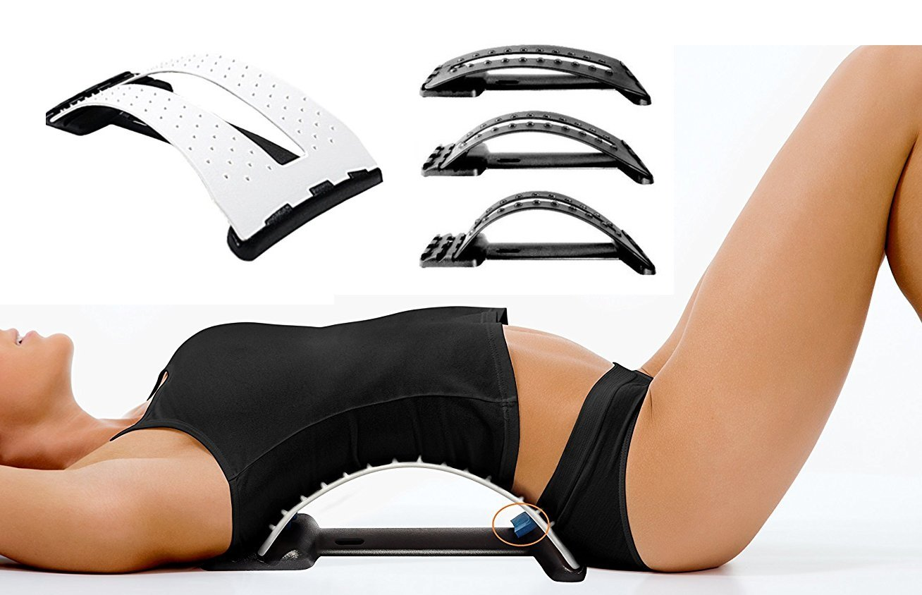 iRSE Magic Back Stretcher Lumbar Support Device for Upper and Lower Back Pain Relief – 3 Levels