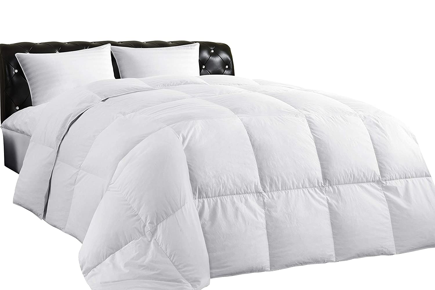 Lightweight Down Comforter (Twin), All-Season Medium Warmth, 100% Cotton Cover
