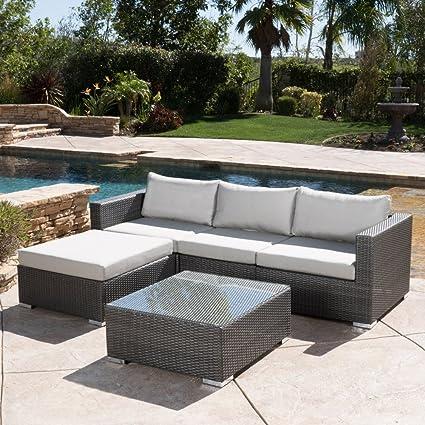 Best Selling Home Decor Furniture Haley Wicker 5 Piece Patio Conversation  Set