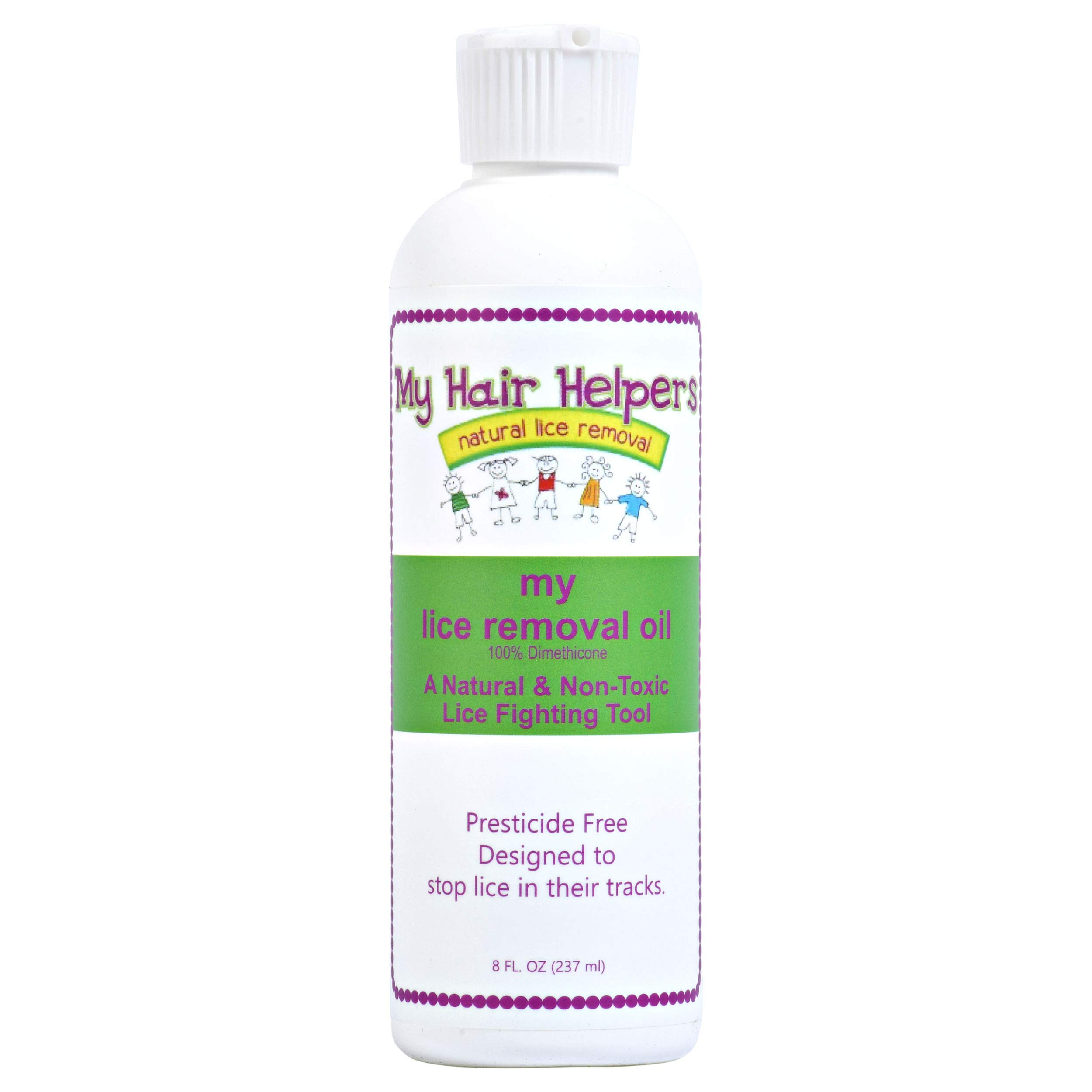Lice Removal Oil Safe Non-Toxic Treatment Kills Lice and Their Eggs 8 fl Ounces Treats 1-3 People by MY HAIR HELPERS NATURAL LICE REMOVAL