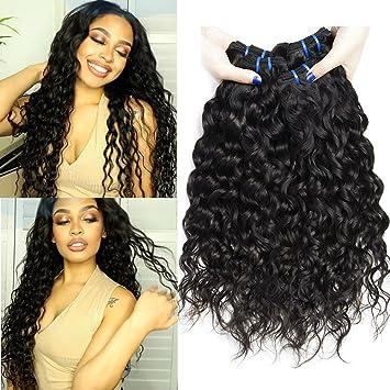 Amazon Com 8a Wet And Wavy Human Hair Weave Bundles Virgin