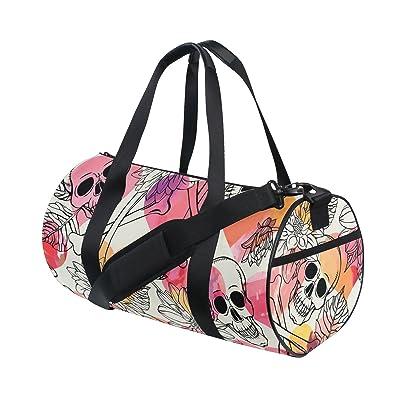 outlet Naanle Skull Flower Dia De Los Muertos Day Of The Dead Gym bag  Sports Travel 2ba04db63e