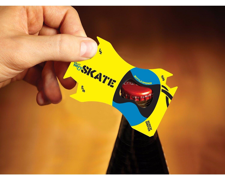 amazon com wallet ninja skate credit card sized pocket tool