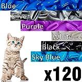 120 pcs Soft Cat Claw Caps Cats Nail Claws 6X Colors + 6X Adhesive Glue + 6X Applicator, Pet Cap Tips Cover Paws…