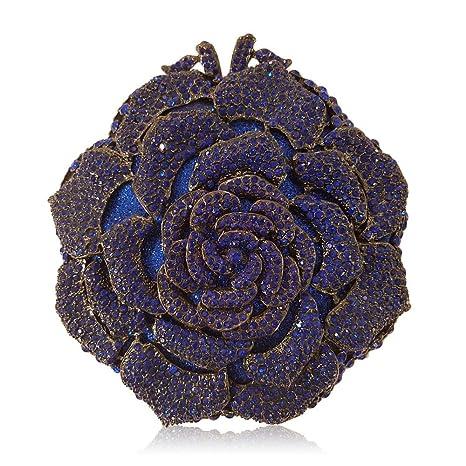 BEUWAY - Cartera de Mano para Mujer Azul Oscuro Talla única