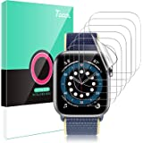 TOCOL [6 Pack] Screen Protector for Apple Watch 44mm SE/Series 4 5 6 and Apple Watch 42mm Series 3 2 1- Max Coverage HD…