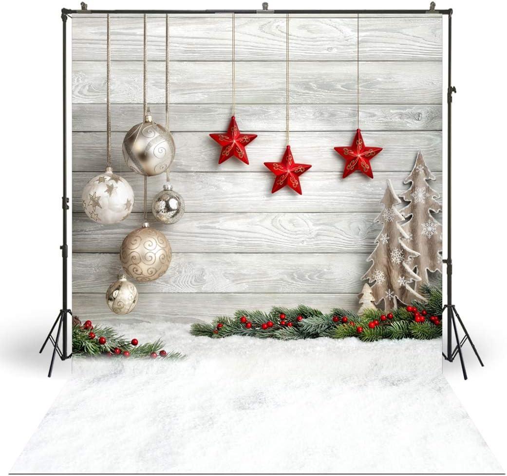 7x7FT Vinyl Photo Backdrops,Christmas,Flowers of Noel Theme Photoshoot Props Photo Background Studio Prop
