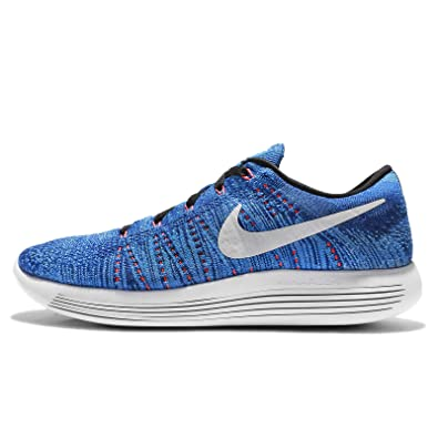 Nike Men's LunarEpic Low Flyknit Running Shoe RacerBlue/White-Photo Blue-Blue Glow D
