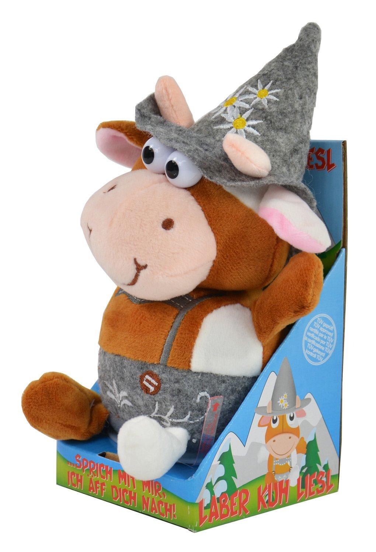 Kögler 75624 - Laber-Kuh Liesl mit traditioneller Kleidung, die alles nachplappert-Plüsch Winfried Kögler Bauernhoftiere