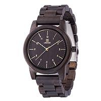 Wood Watch,BIOSTON Natural Handmade Unisex 40mm Design Vintage Wooden Watches Wrist Watch with Adjust Tool